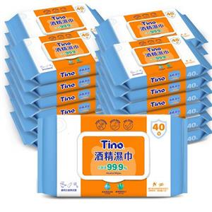 【Tino】加蓋型酒精濕巾 抑菌濕紙巾 (40抽x48包/箱)