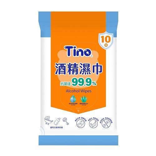 【Tino】酒精濕巾 抑菌濕���巾 (10抽x144包/箱)