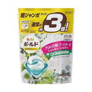 日本P&G 3倍洗衣膠球補充包44入X4白色(植物花香)