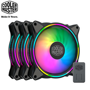 Cooler Master MasterFan MF120 HALO 黑色版 ARGB風扇 3合1組