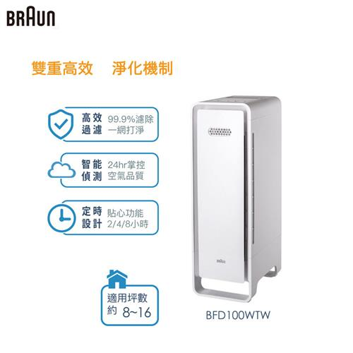 BRAUN SensorAir 空氣清淨機-白 BFD100WTW