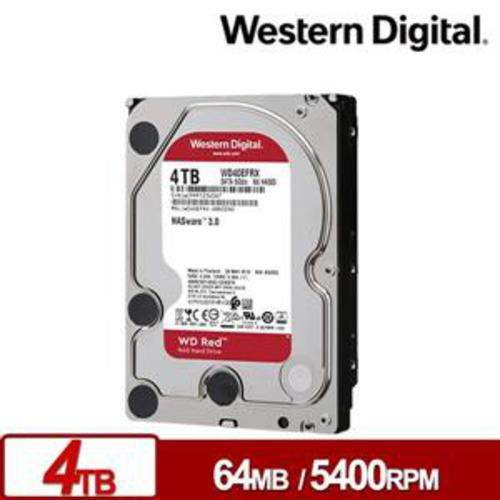 WD 威騰 WD40EFRX 紅標Plus 4TB 3.5吋NAS硬碟【加碼送 WD酷夏玻璃瓶】