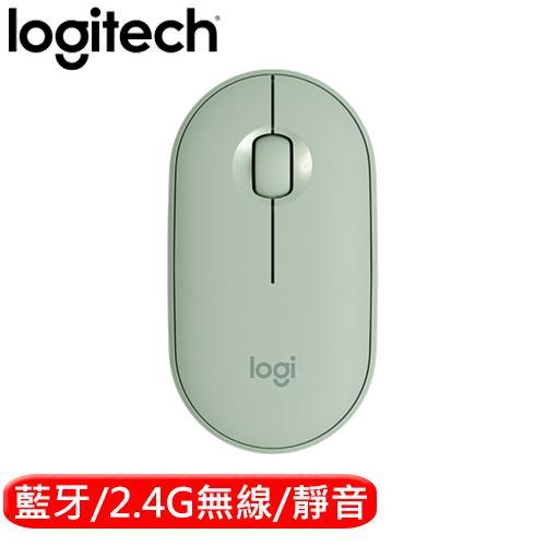 Logitech 羅技 M350 鵝卵石無線滑鼠 薄荷綠