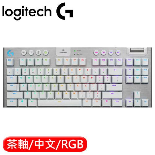 Logitech 羅技 G913 80% 無線遊戲機械鍵盤 白 觸感軸