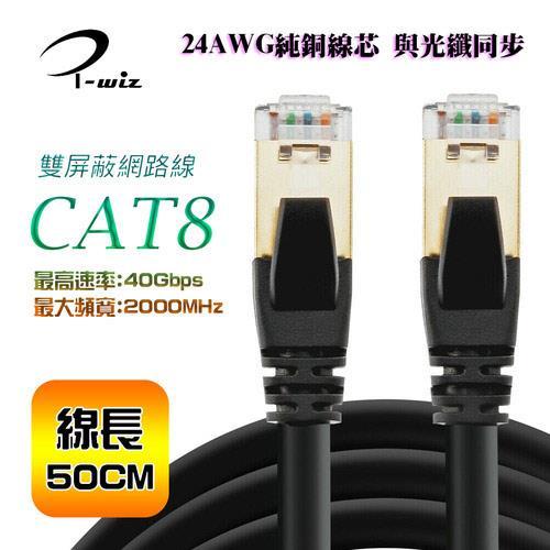 i-wiz CAT.8 S/FTP 超高速網路線 50CM