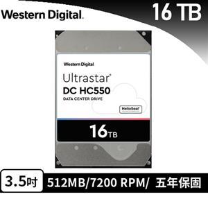 WD 威騰 Ultrastar DC HC550 16TB 3.5吋企業級硬碟