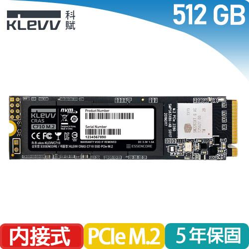 KLEVV科賦 CRAS C710 512GB SSD M.2 2280 PCIe NVMe固態硬碟
