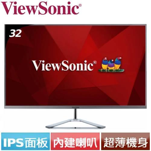 ViewSonic優派 32型 VX3276-2K-MHD-2 無邊框螢幕
