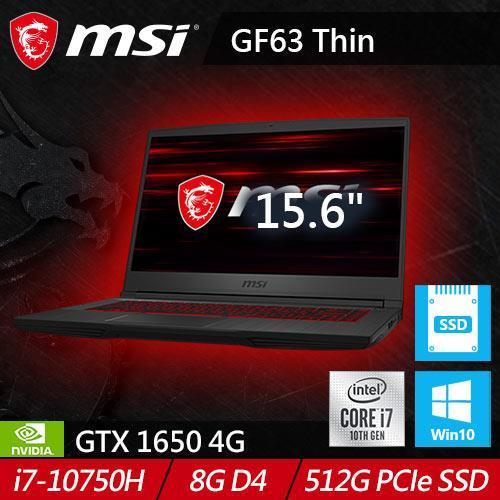 MSI微星 GF63 Thin 10SC-001TW 15.6吋窄邊框戰鬥電競筆電