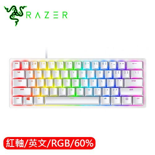 Razer 雷蛇 Huntsman mini 獵魂光蛛 60% 電競鍵盤 白 光學紅軸 英文
