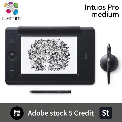 Wacom Intuos Pro Medium 創意觸控繪圖板+Adobe stock 5個點數包