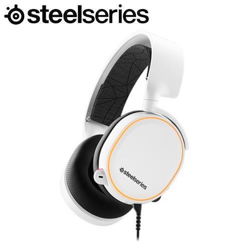 SteelSeries賽睿 Arctis 5 White 有線電競耳機麥克風-白色