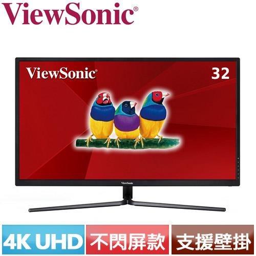 R2【福利品】ViewSonic優派 32型 4K超高解析電競螢幕 VX3211-4K-MHD