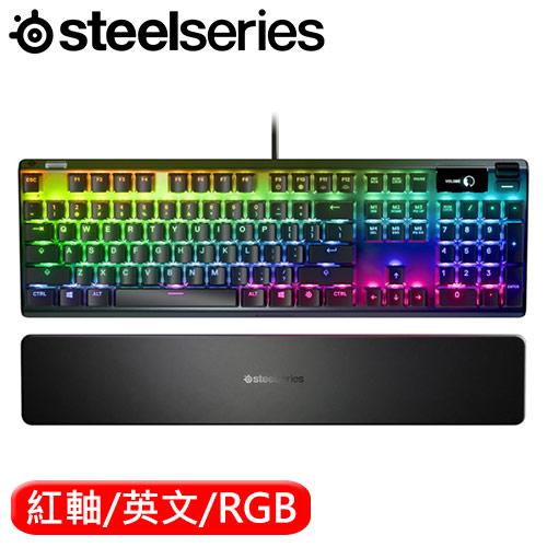 SteelSeries 賽睿 Apex Pro 機械鍵盤 磁力紅軸 英文