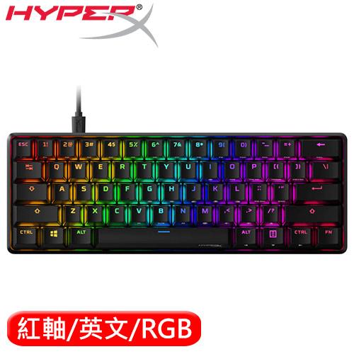 HyperX Alloy Origins 60% 電競鍵盤 紅軸 HKBO1S-RB-U