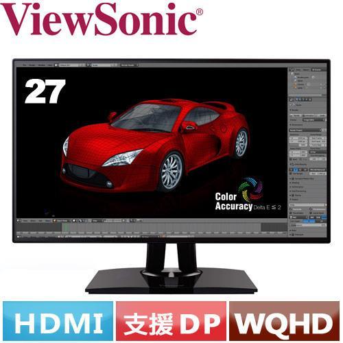 R1【福利品】ViewSonic優派 27型 專業型液晶螢幕 VP2768