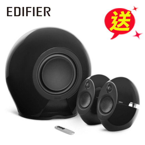 Edifier e235 漫步者 低音愛好者 三件式喇叭 曜石黑(藍牙/光纖/THX認證)