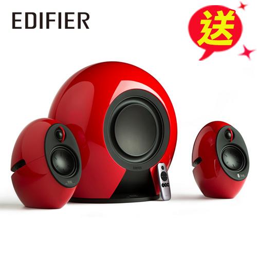Edifier e235 漫步者 低音愛好者 三件式喇叭 烈焰紅(藍牙/光纖/THX認證)