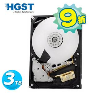 【網購獨享優惠】HGST 3.5吋 3TB SATA3 7200轉 NAS專用 內接硬碟