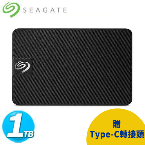 Seagate希捷 Expansion SSD 1TB 行動硬碟(菱紋黑)