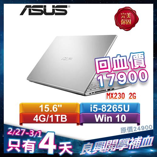 ASUS華碩 Laptop 15 X509FJ-0131S8265U 15.6吋筆記型電腦 冰河銀